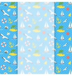 Nautical Icons background with blurred banner vector image vector image
