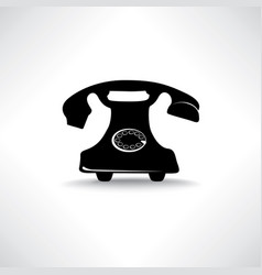 old phone icon retro phone symbol handset sign vector image