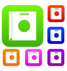 paper bag set color collection vector image