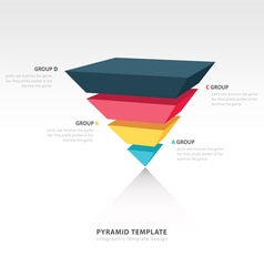 Pyramid upside down infographic template vector