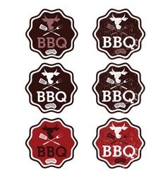 Set of bbq vintage labels vector