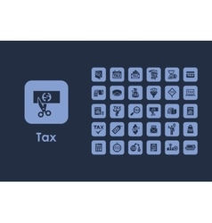 Set of tax simple icons vector image