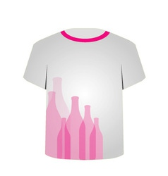 T Shirt Template- bottles vector image vector image