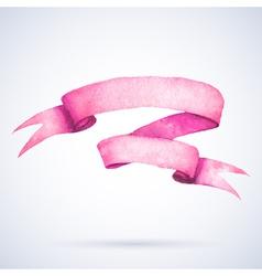 Watercolor ribbon vector image vector image