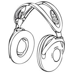 Wireless headphone vector