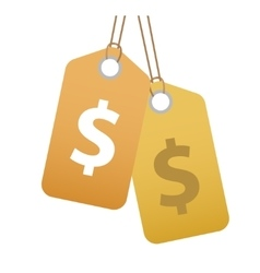 Shopping tag with dollar sign icon flat design vector image