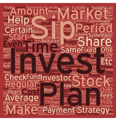 Sip systematic investment plan text background vector