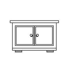 bedside table furniture room outline vector image