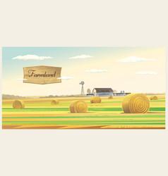 Autumn rural landscape vector