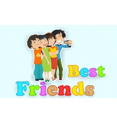 Happy friendship day vector