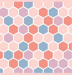 colorful abstract background with hexagons vector image