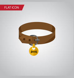 isolated puppy collar flat icon hound necklace vector image