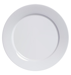 Plate empty isolated vector image