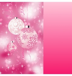 Background with stars and christmas balls eps 8 vector
