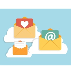 Flat Design Concept Email Icon vector image