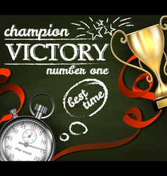 Victory background vector