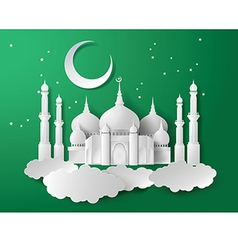 Paper of mosque vector