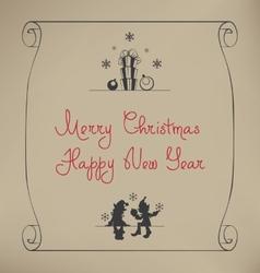 Christmas Santa Elf design vector image