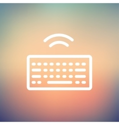 Wifi button in keyboard thin line icon vector