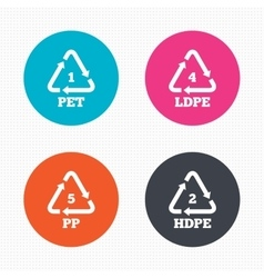 Pet ld-pe and pp polyethylene terephthalate vector