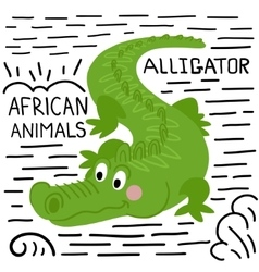 Alligator on a white background isolated vector
