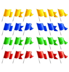 Flags four colors angle vector