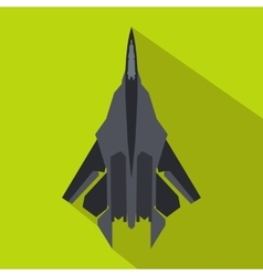 Fighter jet icon in flat style vector