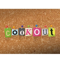 Cookout concept vector
