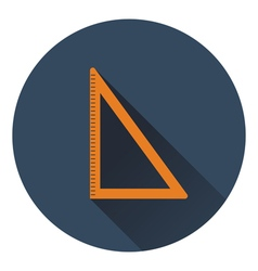 Flat design icon of triangle in ui colors vector