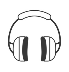 Headphones icon industrial security design vector