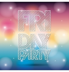 Text icon party and disco design graphic vector
