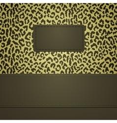 Leopard spots banner vector