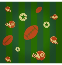 american football pattern vector image vector image