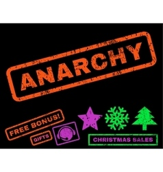 Anarchy rubber stamp vector