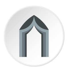 Arch tent icon flat style vector