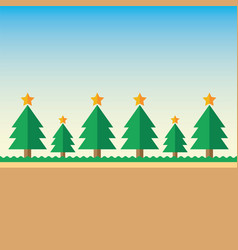 Background christmas tree vector