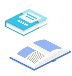 Book 3d isolated school book vector