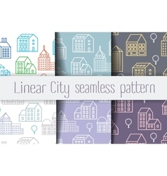 City Line seamless vector image vector image