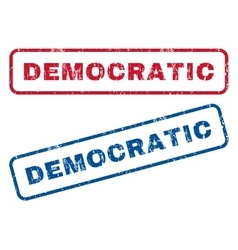Democratic rubber stamps vector