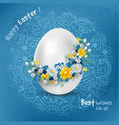 Easter greeting design vector