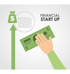 financial start up vector image vector image