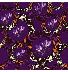 Floral seamless pattern hand-drawing vector