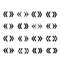 guillemets icon set vector image