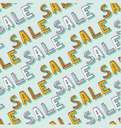 Hand drawn sale pattern doodle discount shopping vector