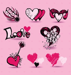 love item Doodles vector image vector image