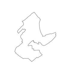 monaco map outline vector image vector image