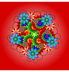 ornament of flowers vector image vector image