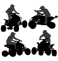 Quadbike Silhouette vector image vector image