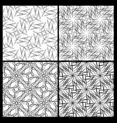 seamless decorative patterns vector image
