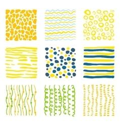 Set hand drawn textures vector image